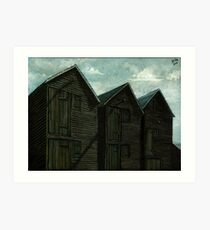 Net Huts in Warm Sunshine Art Print