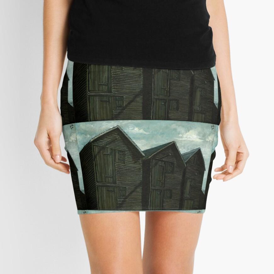 Net Huts in Warm Sunshine Mini Skirt