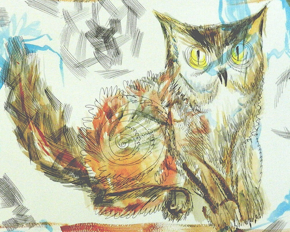 Owl-Cat: Sergei Lefert's drawing by SergeiLefert