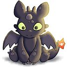 Little Dragon Plush by pyxelexia