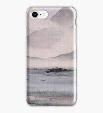 Utagawa Hiroshige - Fuji Marsh, Suruga Province, From Twelve Views Of Mt. Fuji. Mountains landscape iPhone Case/Skin