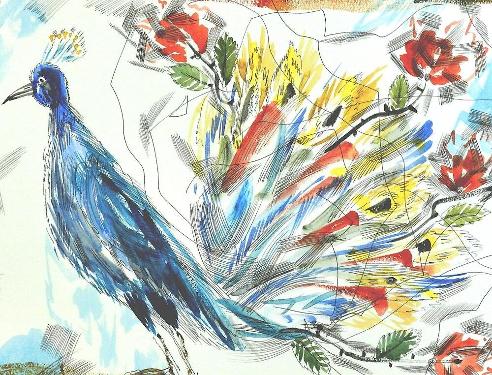 Peacock in Blossom by SergeiLefert