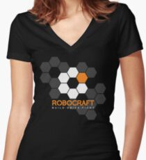 ROBOCRAFT HEX Women's Fitted V-Neck T-Shirt