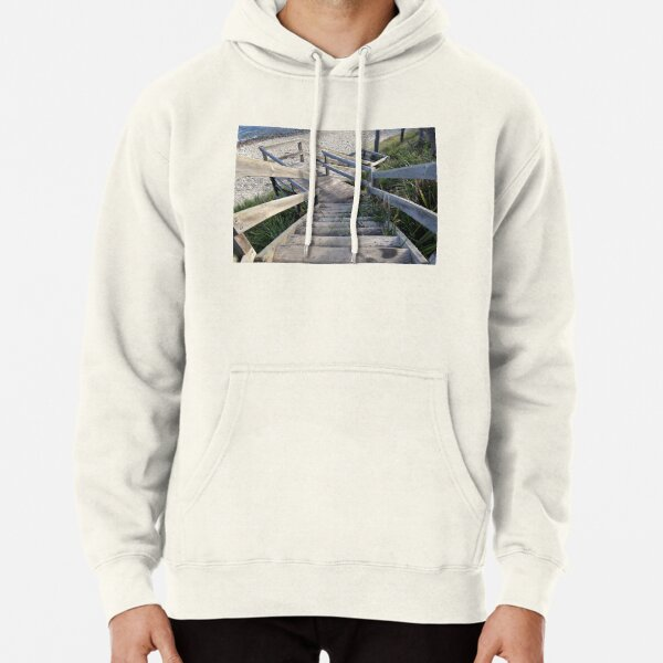 Staircase to the waters edge Pullover Hoodie