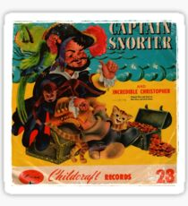 Vinyl Record Cover Captain Snorter Sticker