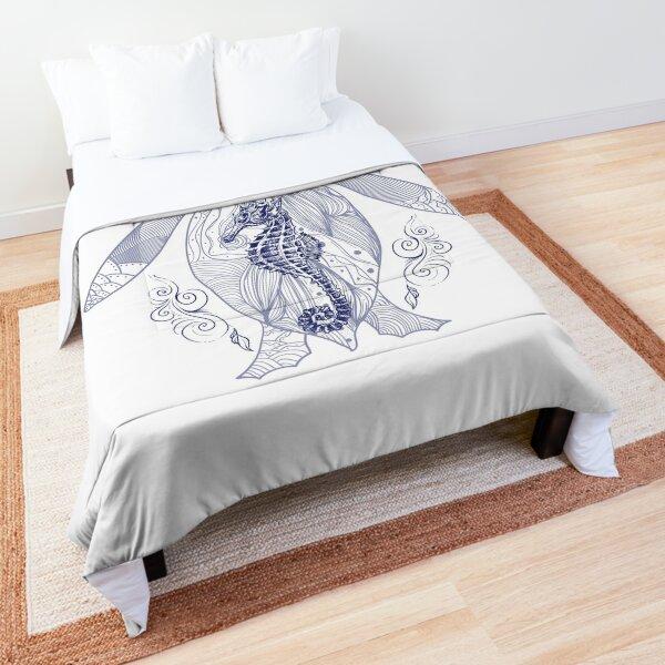 Blue sealife pattern Comforter