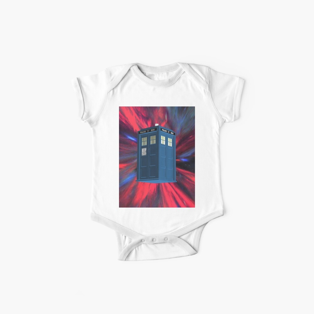Doctor Blue Box Baby One-Pieces