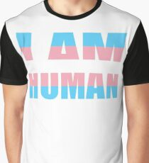 LGBT Trans Pride Shirts, I Am Human, Equality Gifts and Pride Swag Graphic T-Shirt