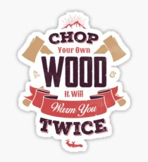 Pegatina CHOP su propia madera