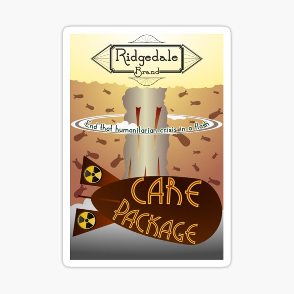 Ridgedale Brand Care Package Sticker