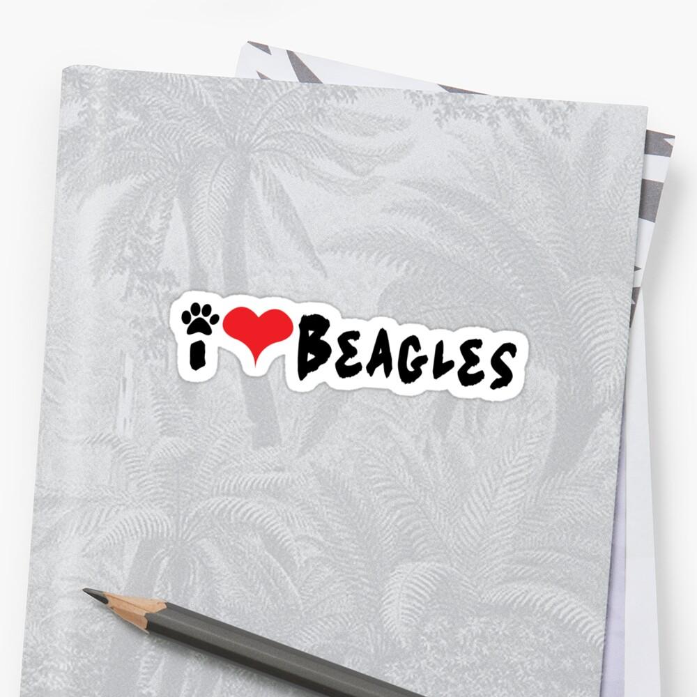 I love Beagles. by RBBeachDesigns