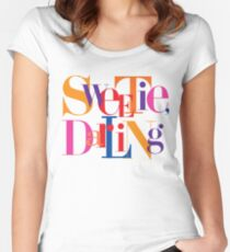 Absolutely Fabulous - Sweetie, Darling Women's Fitted Scoop T-Shirt