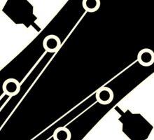 Electric guitar (black) Sticker