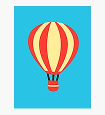 Classic Red and Yellow Hot air Balloon Photographic Print