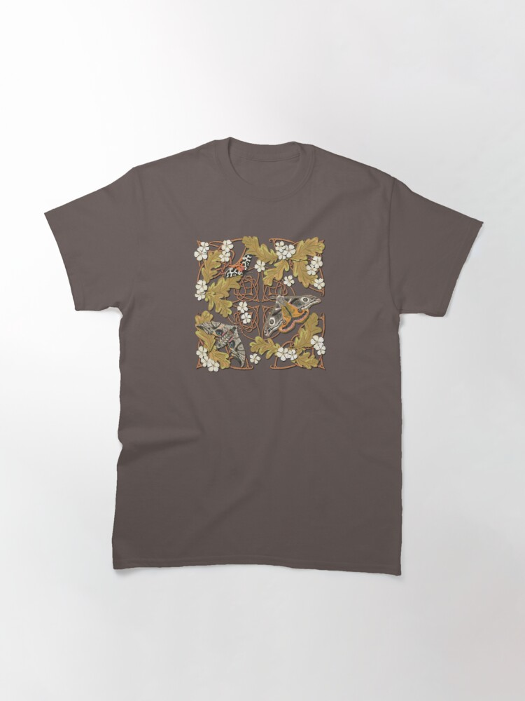 Alternate view of Celtic Moths with Leaves and Flowers Classic T-Shirt