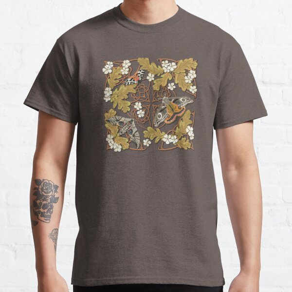 Celtic Moths with Leaves and Flowers Classic T-Shirt