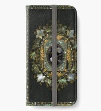 Mother Of Pearl Antique Book Cover Design iPhone Wallet/Case/Skin
