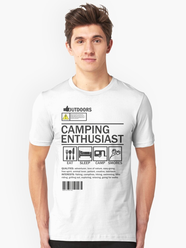 Camping Enthusiast Unisex T-Shirt Front