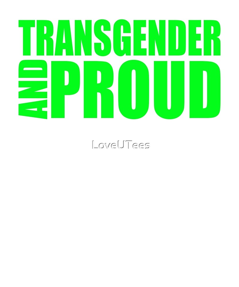 LGBT TransPride Shirts, Trans Lives Matter, Equality T-Shirts, gifts and pride swag by LoveUTees