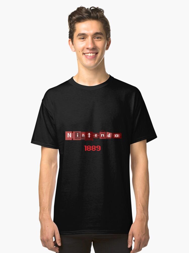 Nintendo Console logo Fan Made Classic T-Shirt Front
