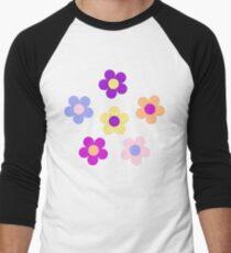 Flower Power Design Men's Baseball ¾ T-Shirt