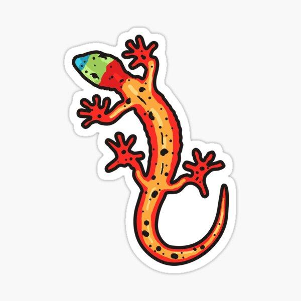 Gecko bunt Sticker