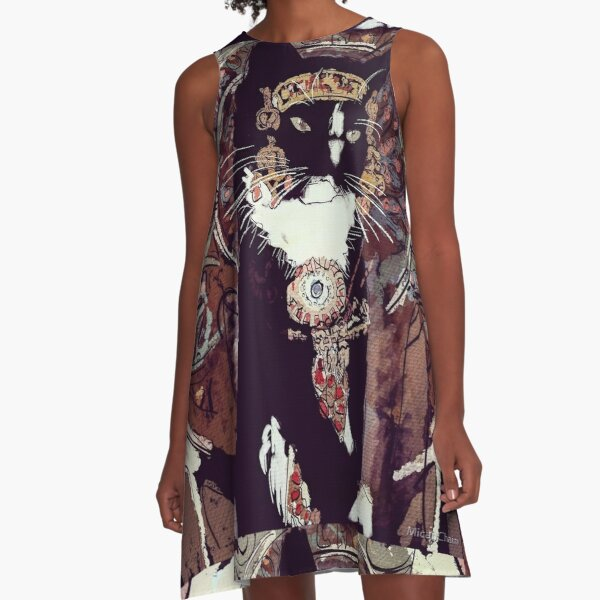 Mucha Cat A-Line Dress
