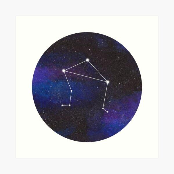 Libra - galaxy star constellation Art Print