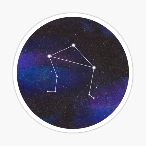 Libra - galaxy star constellation Sticker