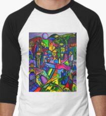 Dreamscapes Men's Baseball ¾ T-Shirt