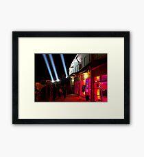 Red Light District - Dark Mofo 2014 Framed Print