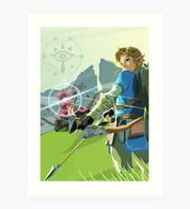Breath of the Wild - Legend of Zelda Art Print