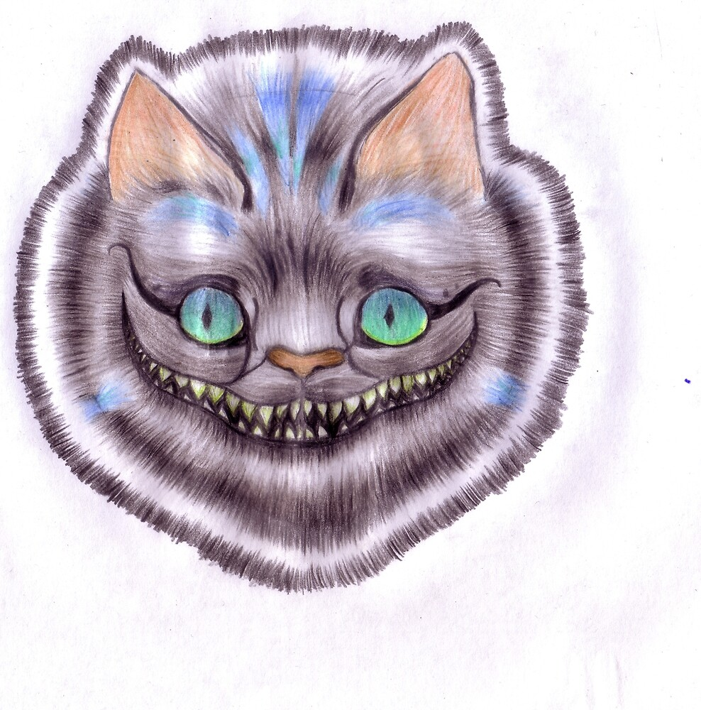 grinning cat by TheRedLillies