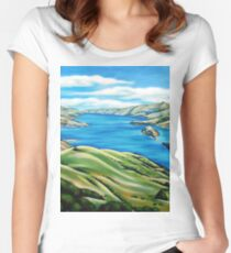 Akaroa Harbour Women's Fitted Scoop T-Shirt