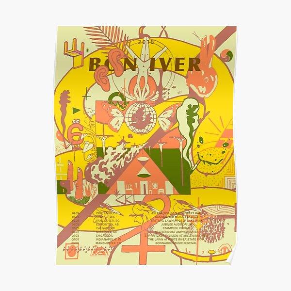 Bon Iver tour 2018 Classic Poster