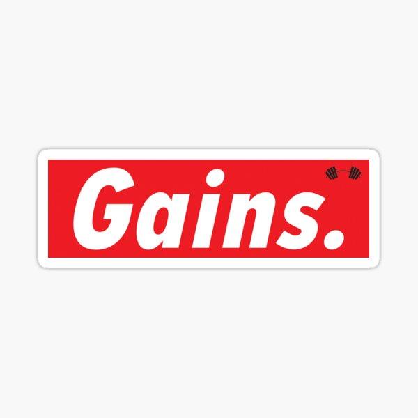 GAINS. Sticker