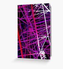 Ferris Wheel Abstract - Dark Mofo 2014 Greeting Card