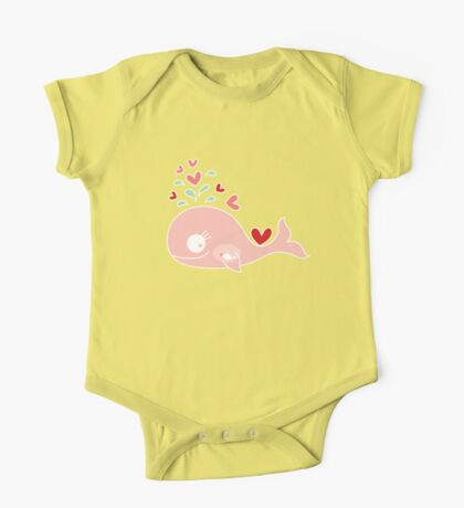 Whimsical Pink Pregnant Mommy Whale Kids Clothes