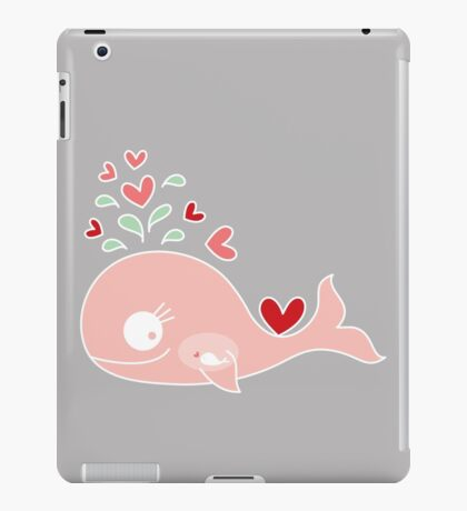 Whimsical Pink Pregnant Mommy Whale iPad Case/Skin