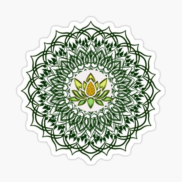 Beautiful Mandala with Lotus flower Sticker