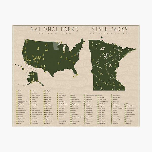 US National Parks - Minnesota Photographic Print