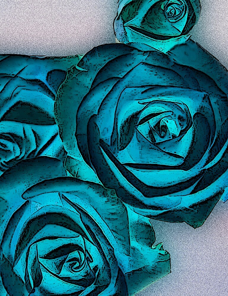 Blue Roses by Joy  Rector