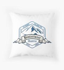 Hintertuxer Ski Resort Austria Throw Pillow