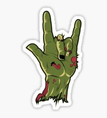 Cut-off ZOMBIE Hand_ILY in ASL Sticker