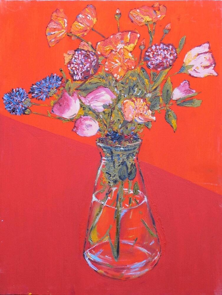 Flowers with oil by anastasiakov