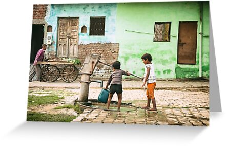 Village Well - Agra, India by JamesKaoFoto