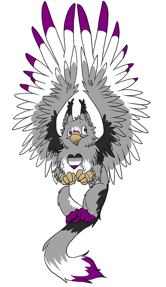 Asexual Pride Griffin by Beckasaurus