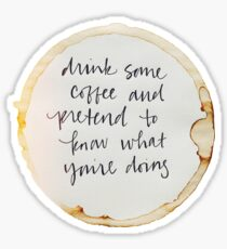 Drink Coffee Sticker