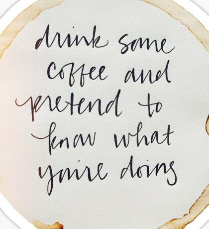 Drink Coffee Sticker