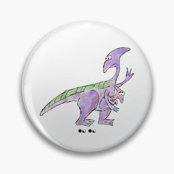 Cartoon Parasaurolophus Pin